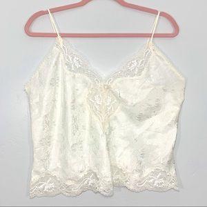Vintage   80's Ivory Lace Floral Lingerie Top